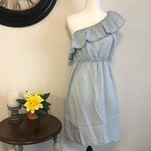 Old Navy one shoulder chambray dress